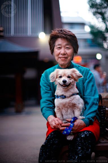 The Lady & Her Dog: portfolio portrait