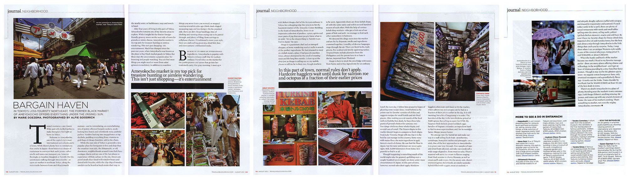 Feature on Ameyokocho, Tokyo, for Travel & Leisure Magazine