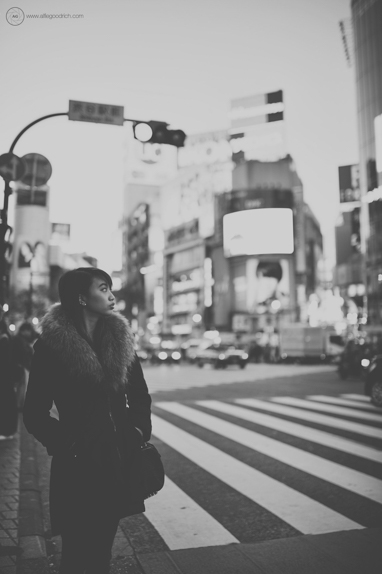 Location portrait on Shibuya Crossing