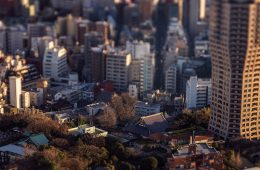 Tilt shift landscapes of Tokyo photographed with a Hasselblad