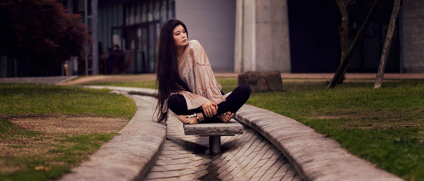 Fashion photo of Ayaka Kodama in Miyazaki, Kyushu